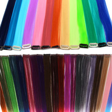 HiDoLA Clip-In Hair Accessories Hair Extensions Long Synthetic Hair Single Piece Pure Color High Temperature Fiber Hair Ext недорого