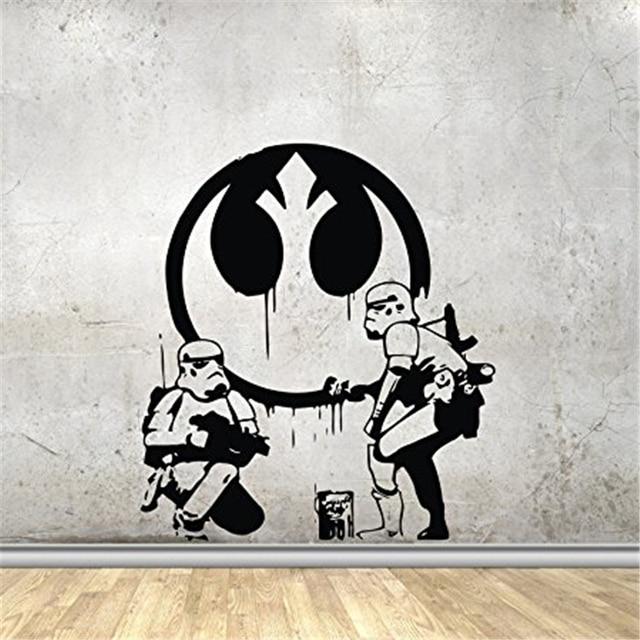 Movie Film Wall Decals Funny Star Wars Stormtroopers Draw Graffiti