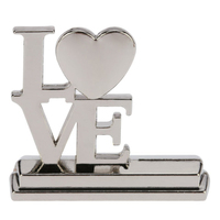 SDFC 20Pcs Place Card Holders Alloy LOVE English Letters Table Mark Cards For Wedding Banquet Decoration