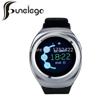 Funelego Bluetooth Smart Watch Android Wear Touch Waterproof Wrist Watches cell phone Clock Round SmartWatch With Sim Card
