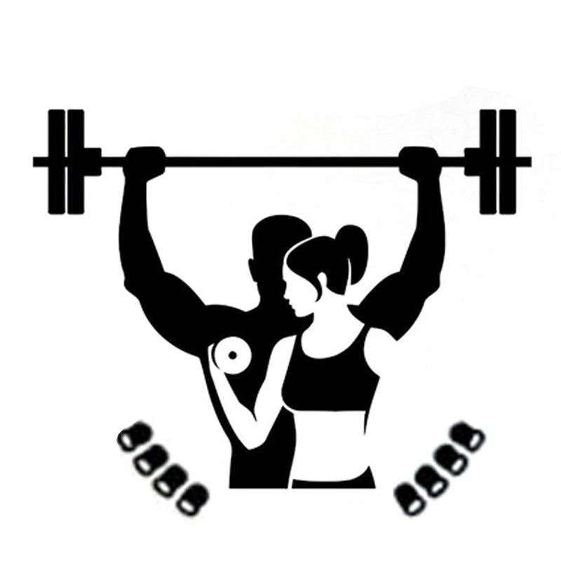 14.6CM*12CM Interesting Weightlifting Bodybuilding Fitness Sports Decor Vinyl Car Stickers