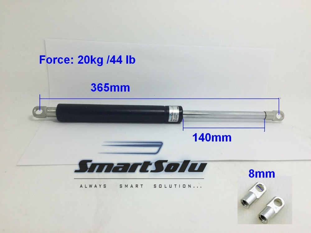 free shipping 44 lb / 20kg Force Gas Spring 140mm Stroke Ball Gas Strut Shock Spring Lift Prop for Automotive free shipping 44lb 20kg force 3 5 stroke hood lift strut prop rod gas spring 11 long