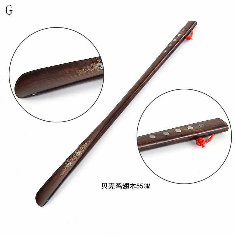 Zapato de madera profesional bocina mango largo Flexible calzador útil levantador de zapatos profesional cuchara herramientas para el hogar