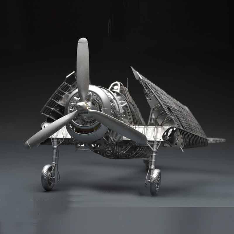 Oyuncaklar ve Hobi Ürünleri'ten Bulmacalar'de All metal alaşım DIY montaj uçak modeli 1/48 F6F 5 cehennem kedi savaşçı İskelet bulmaca'da  Grup 2