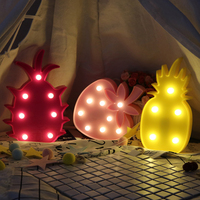 Lovely Fruits Shaped Fairy Night Light ABS Plastic LED Table Desk Lamp Bedroom Atmosphere Wedding Party