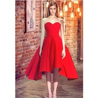 New Style Sexy Cocktail Dresses A Line Sweetheart Corset Back Knee Length Prom Party Dress Elegant