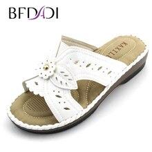BFDADI 2016ฤดูร้อนแฟชั่นเลดี้ดจ์รองเท้าดอกไม้กลวงที่บ้านกับลื่นรองเท้าแตะผู้หญิงล่างนุ่มและรองเท้าแตะ1623