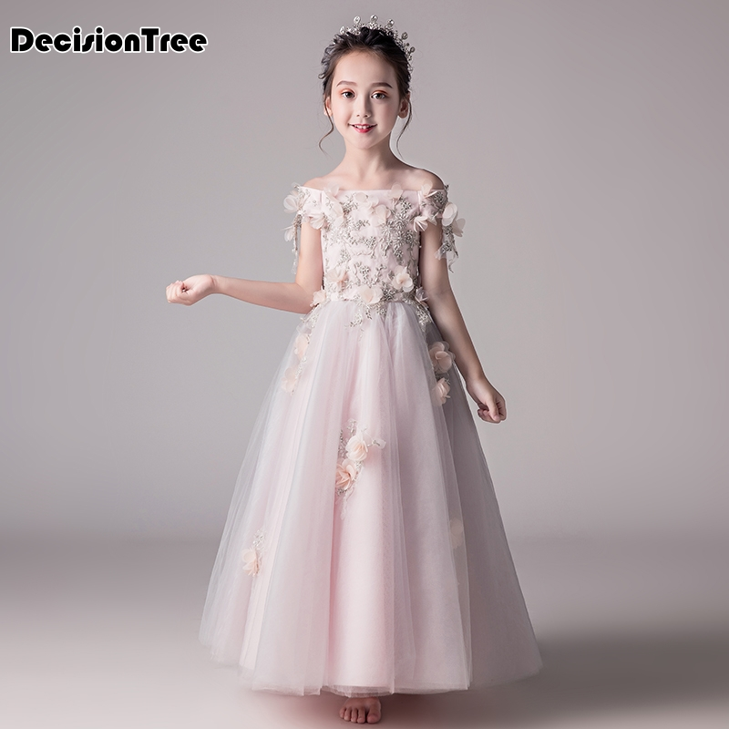 2019 new lace sequins formal evening wedding gown princess dress flower girls children clothing kids party for girl clothes2019 new lace sequins formal evening wedding gown princess dress flower girls children clothing kids party for girl clothes
