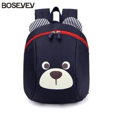 Aged 1-3 Nylon Toddler Backpacks Anti Lost Design Mini Backpack Schoolbag Children School Bags kindergarten Girl Boys Backpack(China)
