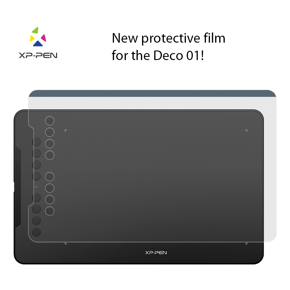 XP-Pen Transparent Graphic Tablet Protective Film For Deco01 Graphics Drawing Tablet (2 Pieces In 1 Package)