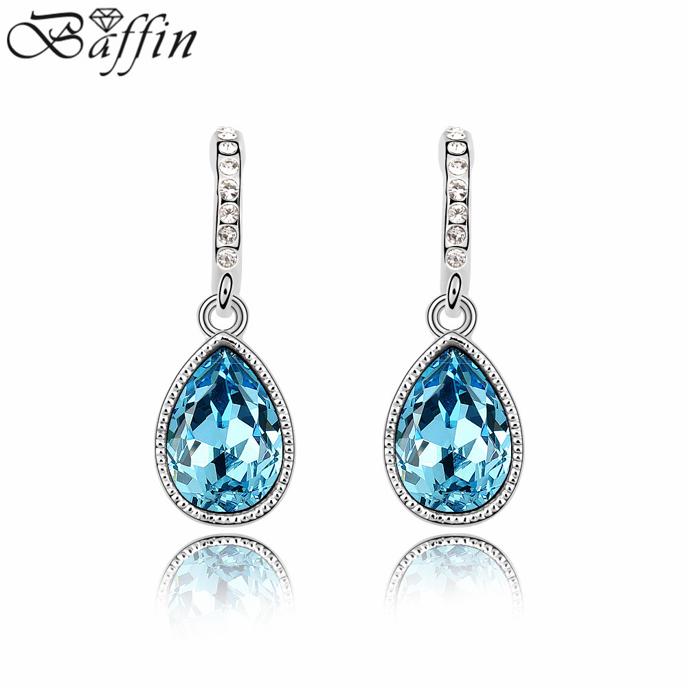 2016 New Crystal Teardrop Ladies Earrings Made With Swarovski Elements For  Wedding Party High Quality Luxury Jewelry Wholesales