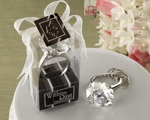 20pcs/lot diamond ring shape keychain Key accessories Cheap home party Favors wedding gifts giveaways lembrancinha de casamento & 20pcs/lot diamond ring shape keychain Key accessories Cheap home ...