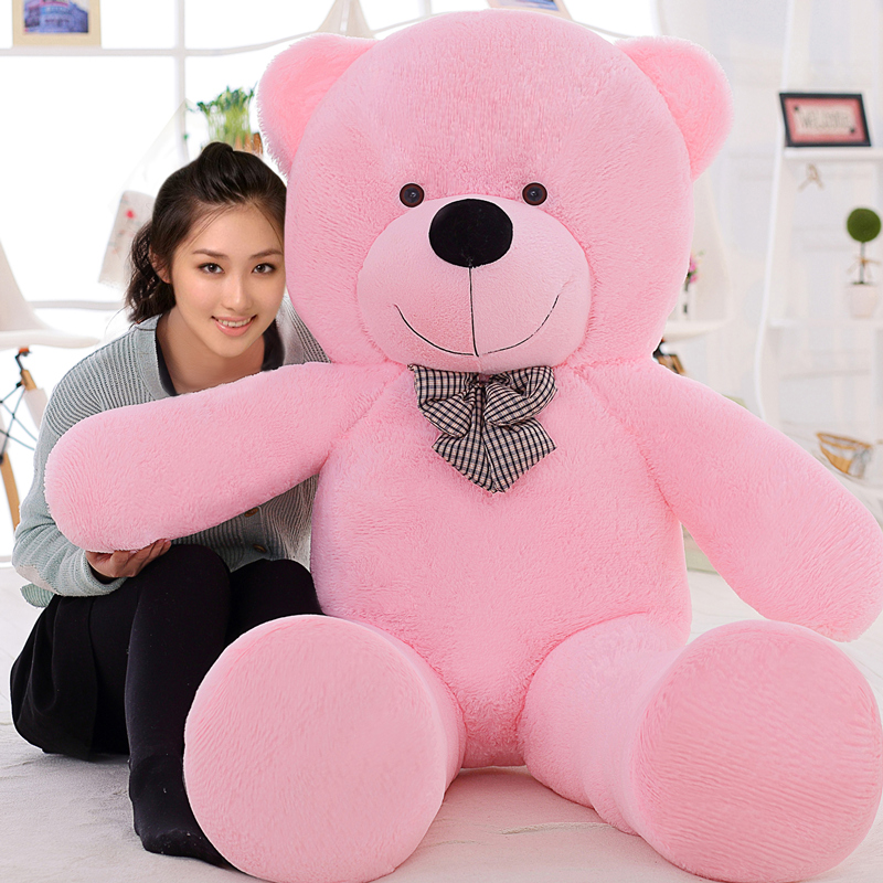 High quality Free shipping Low price Plush stuffed toys large 80cm teddy bear big embrace bear doll /lovers Christmas gift LLF free shipping l wedding gift lovers doll decoration extra large doll juguetes de los cabritos