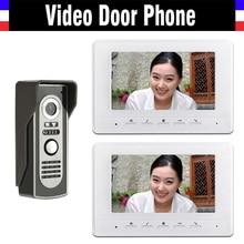 7 inch color lcd Screen video door phone intercom doorbell System video intercom interphone kit 2 monitor 1 Door Camera