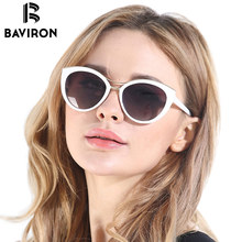 BAVIRON Hot Sell Fashion Cat Eye Sunglasses For Women Vintage Polarized Glasses Blank Package For Dropshipping Model 8527