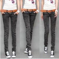 Nieuwe Collectie 2018 Koreaanse Stijl Denim Jeans voor Vrouwen Slim heupen Midden Taille Skinny Jeans Plus Size Goedkope Jeans Gratis verzending