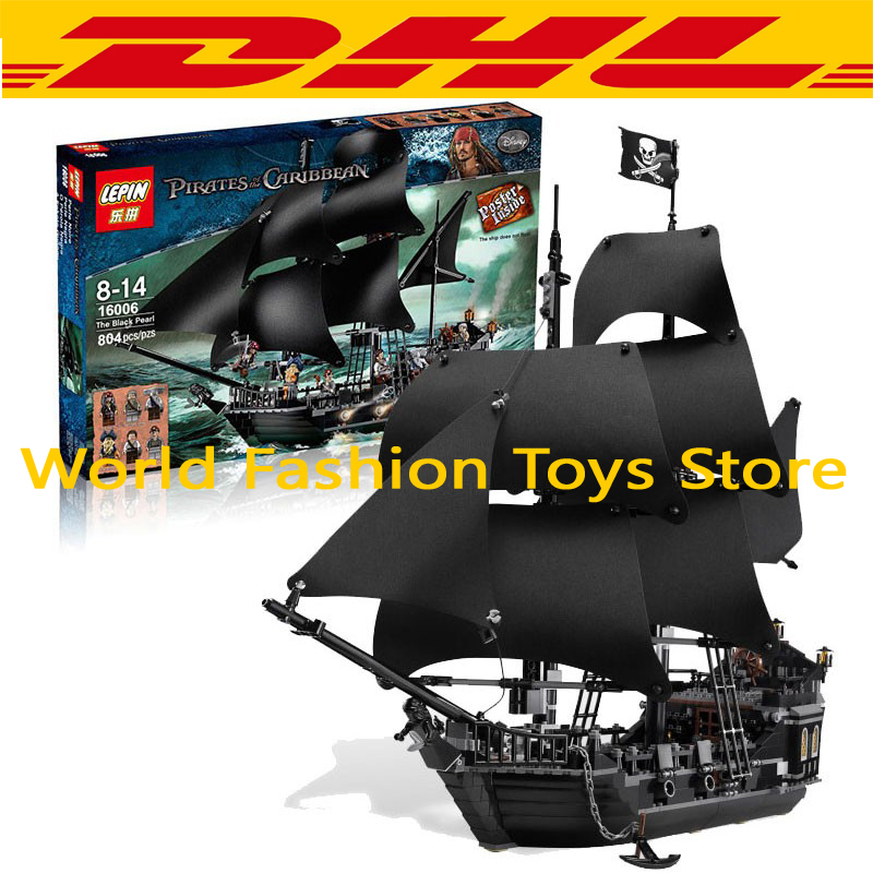 font b LEPIN b font 804Pcs Pirates Of The Caribbean The Black Pearl Ship Model
