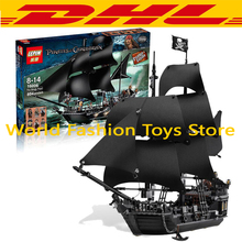 LEPIN 804Pcs Pirates Of The Caribbean The Black Pearl Ship Model Building Kit Minifigure Blocks Bricks Toy Compatible Legoe 4184