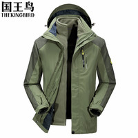 winter jacket men 3 in 1 hoodied waterproof Outdoor softshell fleeced jacket men camping polar fishing ski hunting clothes