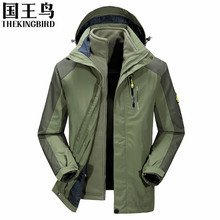 winter jacket men 3 in 1 hoodied waterproof Outdoor softshell fleeced jacket men camping polar fishing ski hunting clothes
