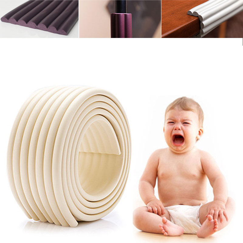 Soft W-shaped Wider Bumper Strip 2M Length Guard Child Baby Safe Corner Furniture Table Protection Child Protection Security