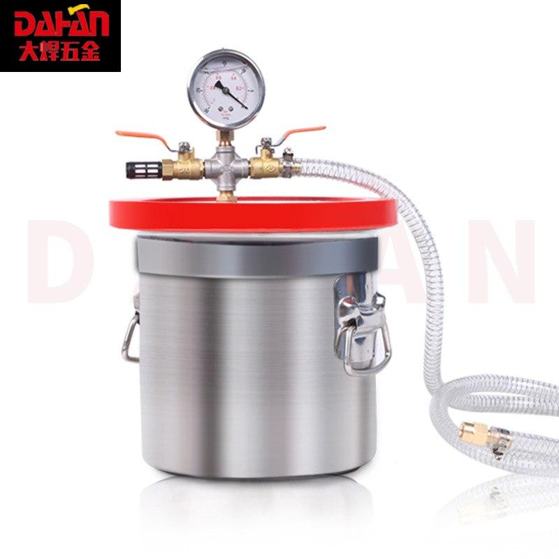 Вакуумное пенообразное ведро AB Клей стабильный баррель эпоксидный силикон деаэрация ведро вакуумный насос 6л 12л 17л 27Л 7л не содержит масла - 4