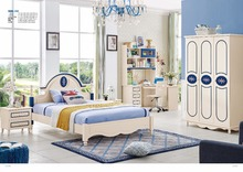 JLMF3318 Modern children bedroom furniture set queen size children bed wardrobe study desk bedside table furniture set