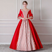 Customized 17th Century Red European style Royal Party Period Dress Marie Antoinette Masquerade Ball Gowns Costumes For Women