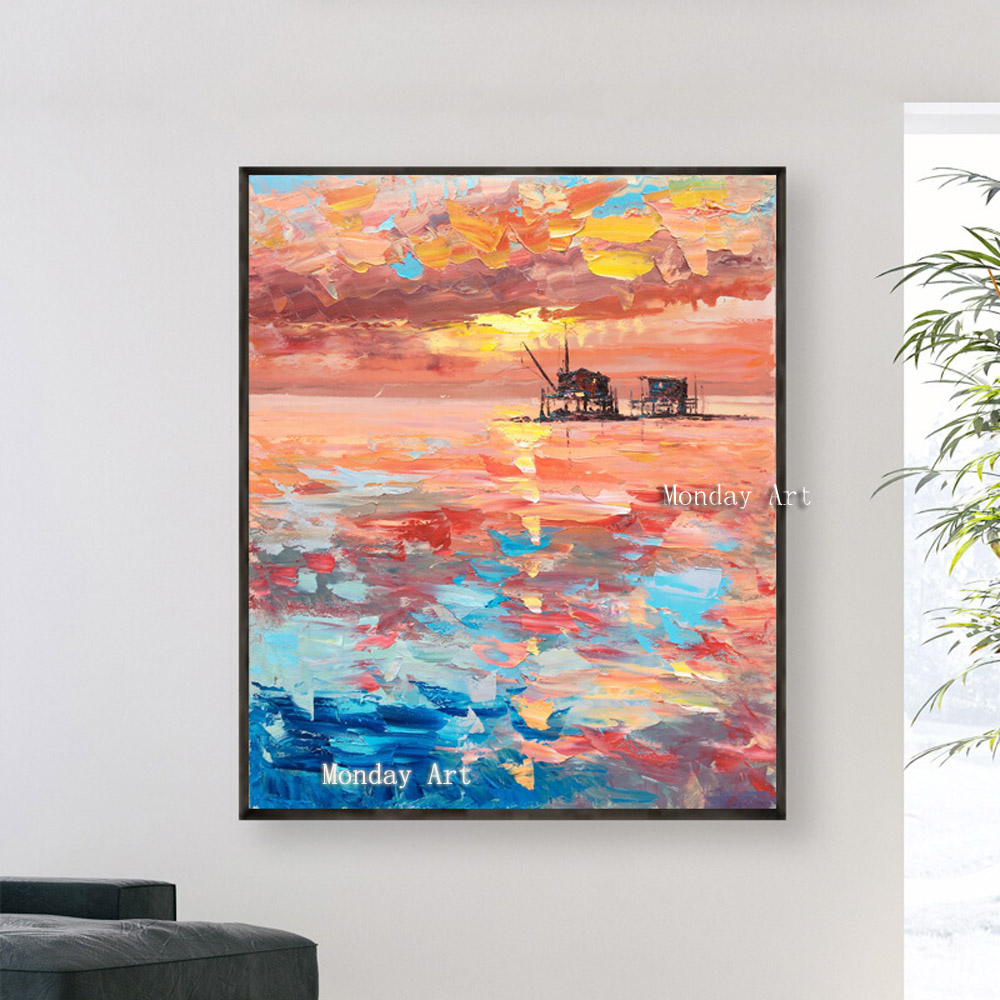 100-Hand-Painted-Abstract-Modern-Lands-Art-Painting-On-Canvas-Wall-Art-Wall-Adornment-picture-Painting (1)