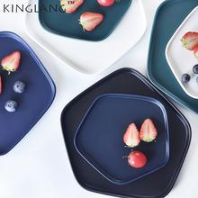 Простая Скандинавская керамическая тарелка стейк фруктовая и