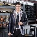 Высокого класса Модный Бренд Мужские Кожаные Куртки И Пальто Зима Бизнес Повседневная Куртка Мотоцикла Натуральная Кожа Мужские Куртки 3XL