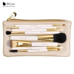 DUcare Professionnel Maquillage Brush Set 8 pcs de Haute Qualité Maquillage Outils Kit avec sac super belle beauté essentiel brosse ensemble