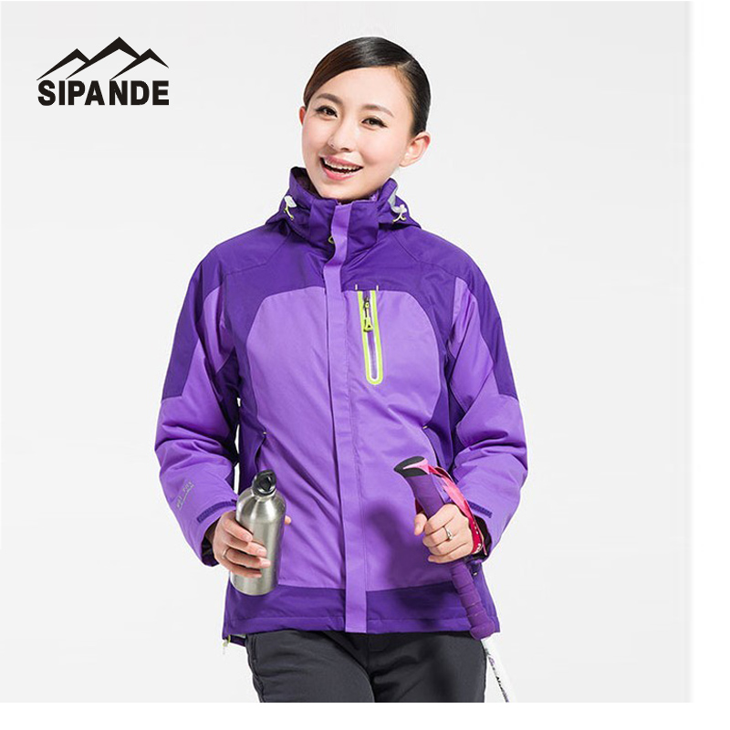 Hot sale Women s Winter thick Inner Fleece Jacket Outdoor ski snowboard