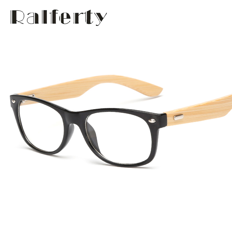 Ralferty Small Gold Wood Glasses Frames Bamboo Eyeglass Optical ...