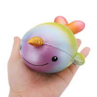 Yummiibear Big Size Purple Rainbow Uniwhale Squishying Toy Slow Rising Collection Gift For Kidss Best Love