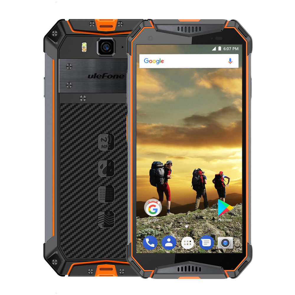 Ulefone Armure 3 IP68 Étanche Téléphone Mobile Android 8.1 5.7 FHD + Octa Core 4 gb + 64 gb 21MP 10030 mah Mondial Version Smartphone