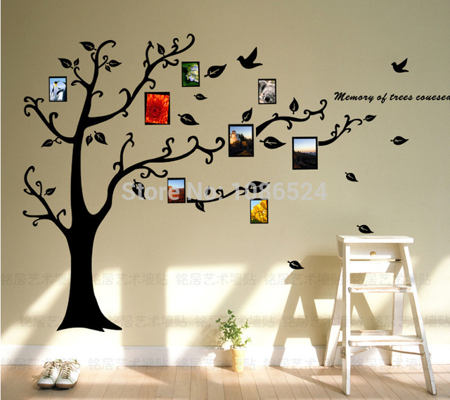 400pcs lot only tree hot selling print type 3d sticker diy decoration fashion wall sticker