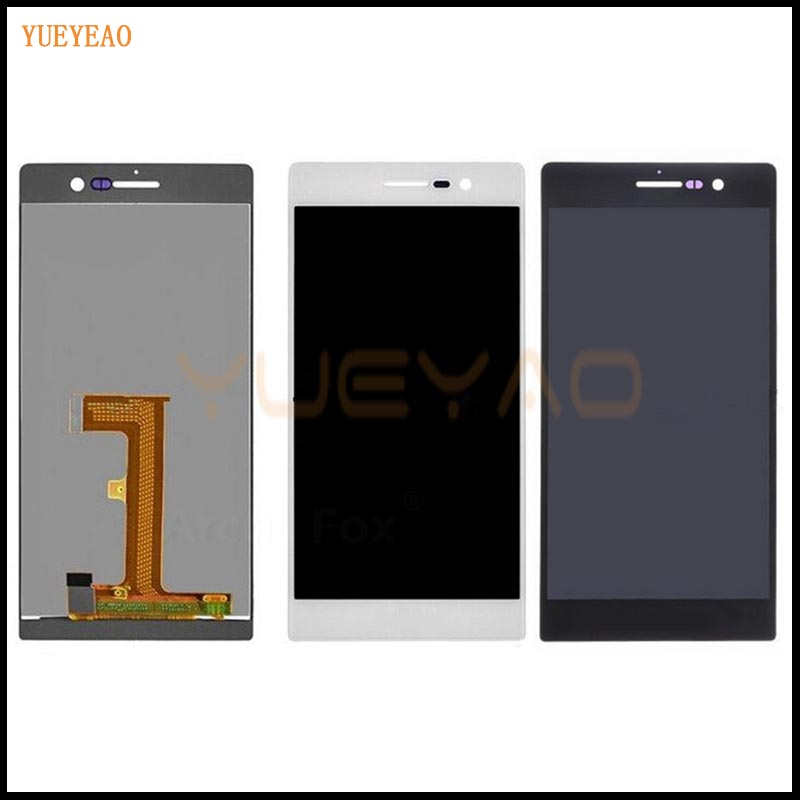 YUEYAO LCD Display + Digitizer Touch Screen Assembly For Huawei Ascend P7 P7-L10, P7-L00, P7-L05 LCD Screen Aseembly yueyao lcd display digitizer touch screen assembly for huawei ascend p7 p7 l10 p7 l00 p7 l05 lcd screen aseembly