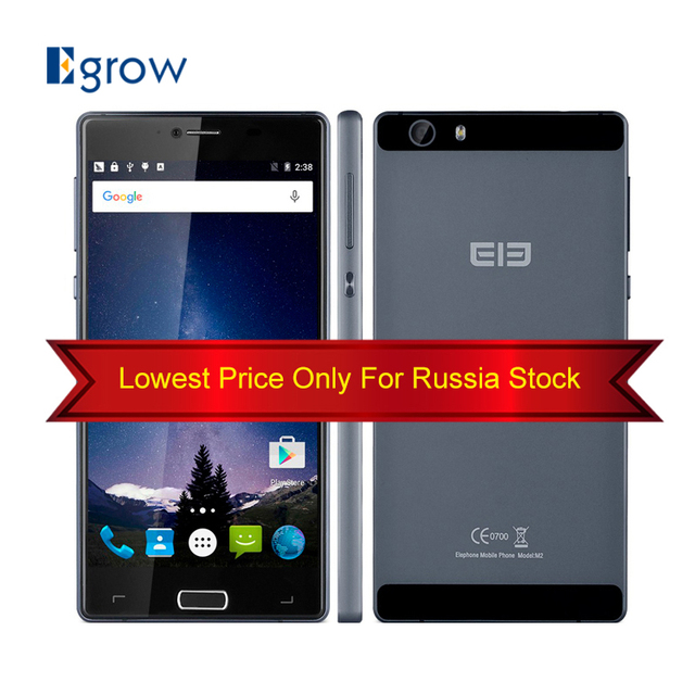 Original Elephone M2 Android 5.1 Mobile Phone GSM/WCDMA/LTE Band Dual SIM Cellphone 3G+32G MTK6753 Octa Core Unlocked Smartphone