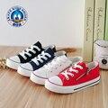 Сплошной Цвет Холст Обувь Белый Красный Черный Синий Детская Спортивная обувь Стороны Молнии Квартиры Zapatos Deporte Случайные Мальчики Обувь для Девочек новый