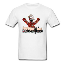 Attack On Titan T-shirt Men Japan Horror Anime T Shirt Vintage Logo Tshirt Funny Ghostbuster Tops Giant Homer Tee Slim Fit