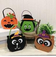 1 PCS Halloween Candy Bag For Kids Pumpkin bag Masquerade Party Decoration Suppilies Halloween Props Children Hand Bag Gift Bags