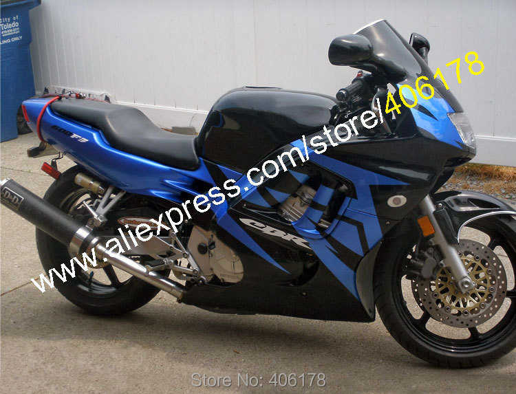 Hot Sales,For Honda CBR600F3 1995 1996 CBR 600 F3 95 96 CBR600RR F3 CBR 600F3 Blue Black Motorcycle Fairing (Injection molding)