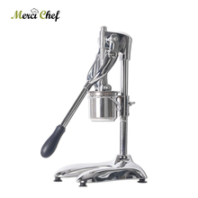Купить с кэшбэком Aluminum Alloy Potato Chips Machine Manual French Fries Cutters Long 30cm Potato Chip Squeezers Kitchen Food Processors 6mm Hole