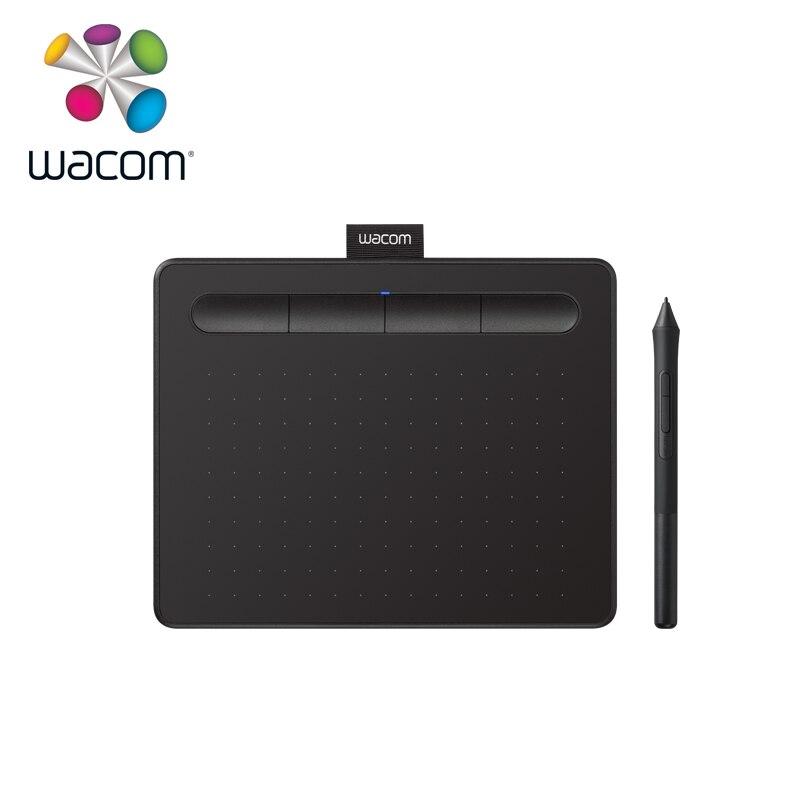 Tablette de dessin graphique Wacom Intuos CTL-4100 tablettes numériques 4096 niveaux de pression (noir/petite taille)