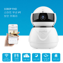 SANNCE 1080P FHD Smart Wireless PT Security IP Camera Wifi Camera Home Security Night Vision Video Surveillance Cam Baby Monitor
