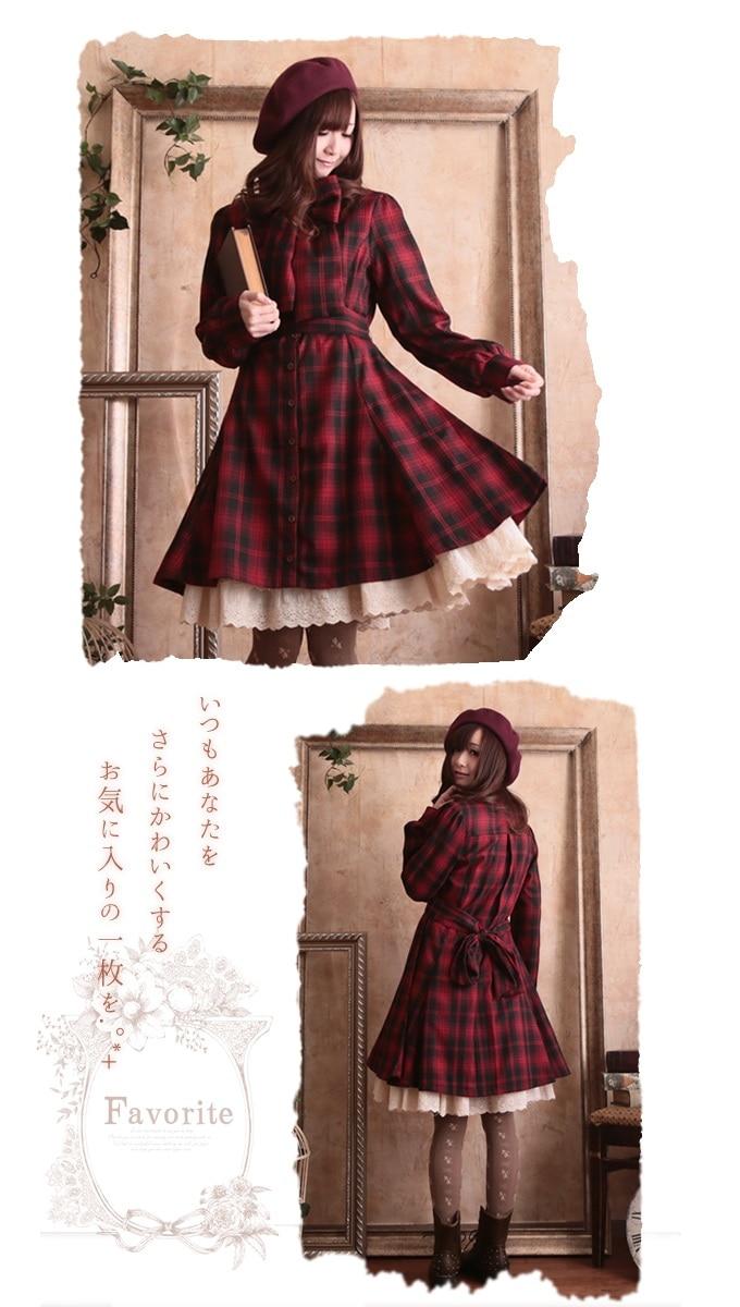 Accettare Basamento Collare Del Di Lolita Abiti Color Autunno Delle Vestito A234 Grande Dolce Donne Femminile Molla Cotone Ragazza Arco Manicotto Pic Vita Plaid Lungo Mori Della 6PAvvq