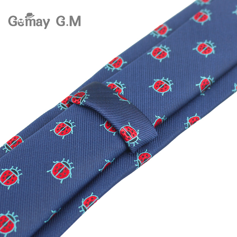 Polyester Jacquard Ties For Men Animal Neckties for Wedding Business Suits 6cm Skinny Wide Neck Ties Slim Gravatas Accessories