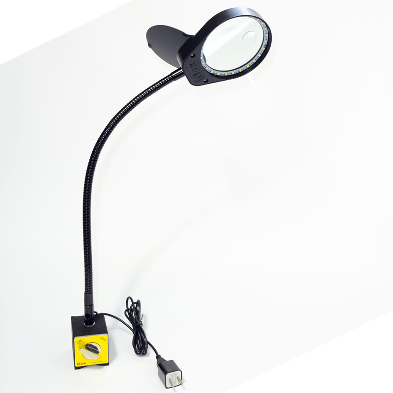5X Magnifying Glass With Magnetic Base Stand And Led Lamp To Identify Jade And Jewelry For Electronic Maintenance PD 6S in Magnifiers from Tools