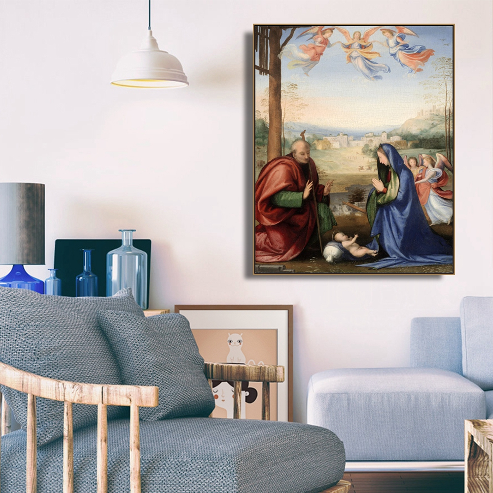 The Nativity by El Greco Famous Wall Art Poster Print Canvas Painting Calligraphy Decorative Picture for Living Room Home Decor in Painting Calligraphy from Home Garden